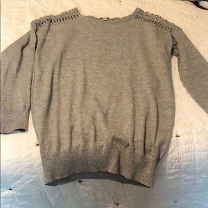 Shoulder Cut Put Sweater